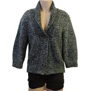 Zara Acrylic Gray & black cardigan size Medium